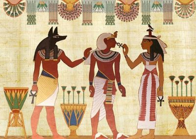 Ilustração egípcia da medicina antiga