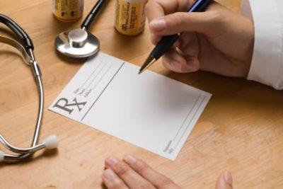 Ilustração de receita médica para candidíase